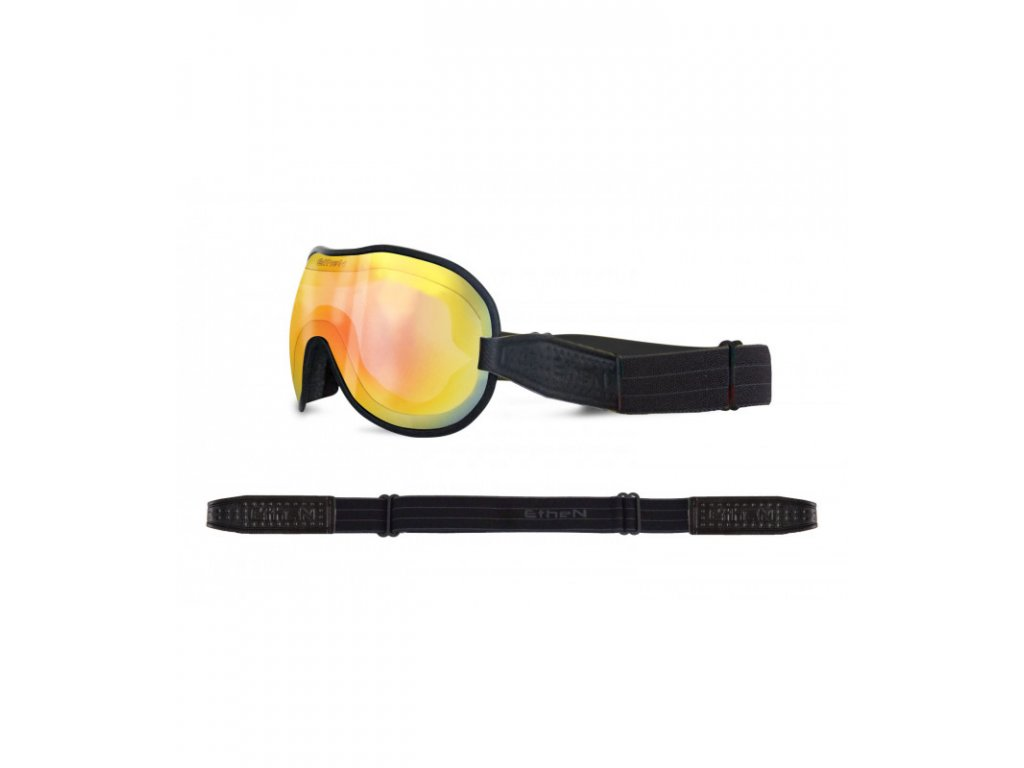 Cafe Racer CR0119 motocyklové okuliare so zrkadlovým sklom