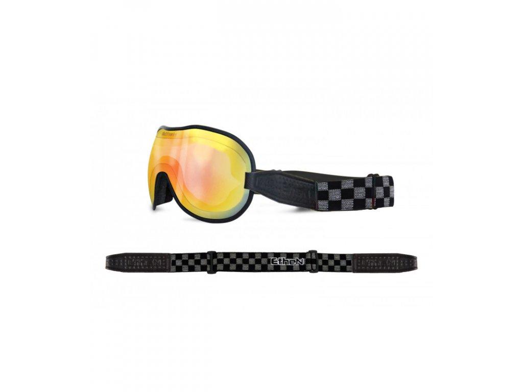 Cafe Racer CR0120 motocyklové okuliare so zrkadlovým sklom