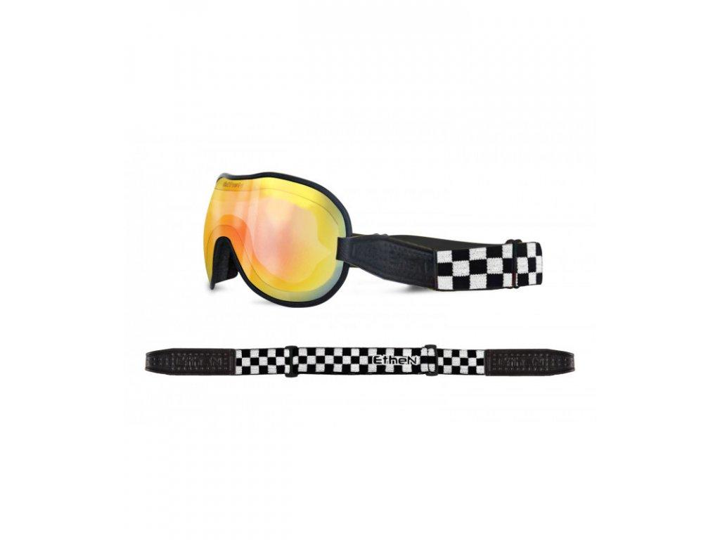 Cafe Racer CR0121 motocyklové okuliare so zrkadlovým sklom