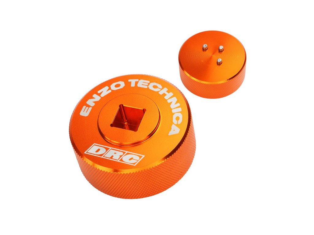 ENZO-DRC Prípravok na demontáž/monáž veka kompresie predných tlmičov WP ConeValve oranžový