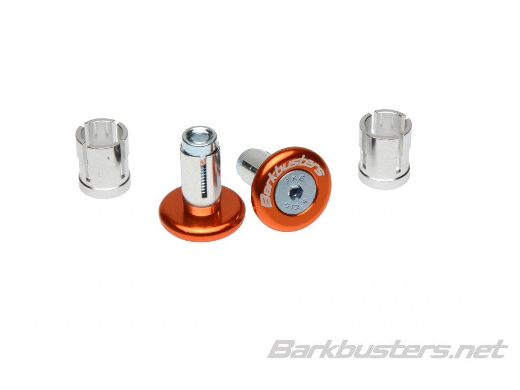Barkbusters  koncovky riadidiel eloxované - oranžové