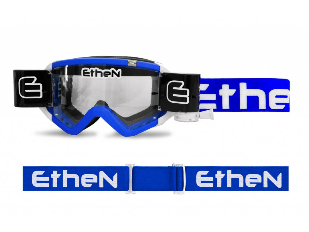 MUD MASK MUD0503 motokrosové okuliare modré s čírym sklom Roll Off 40mm