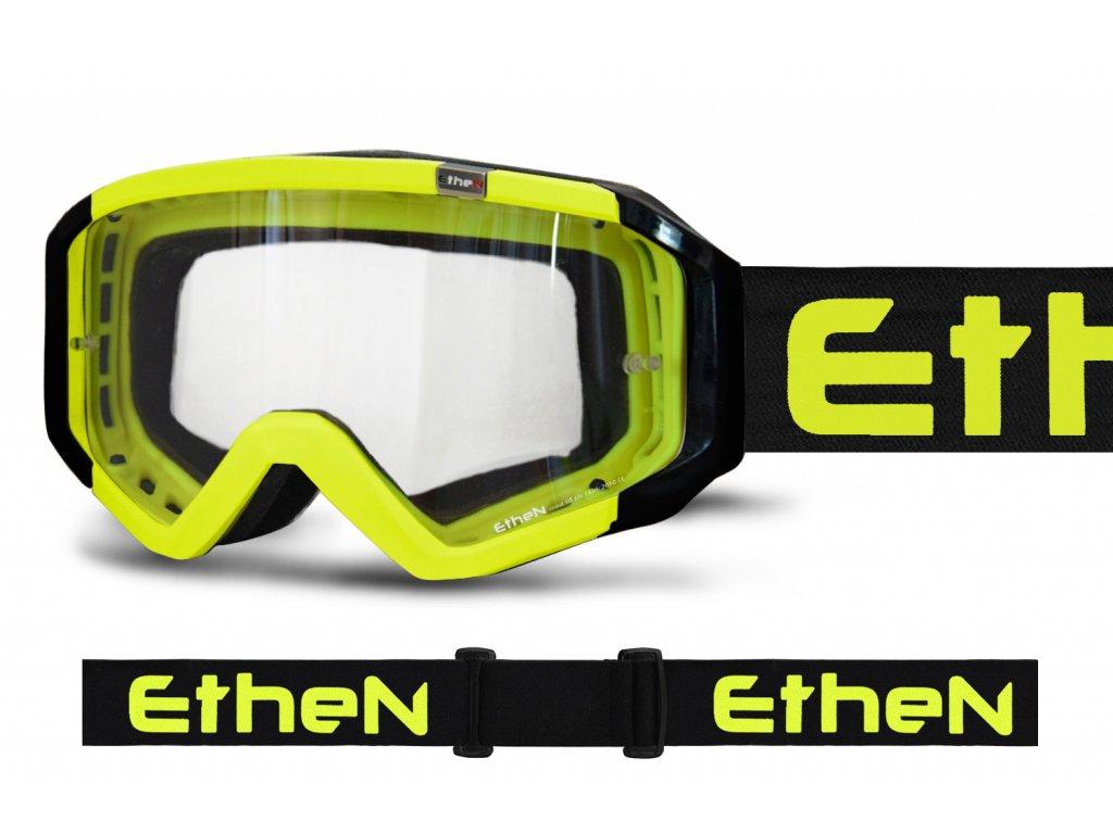 MX05 BASIC 0529 MX okuliare ŽLTÉ FLUO s čírým sklom