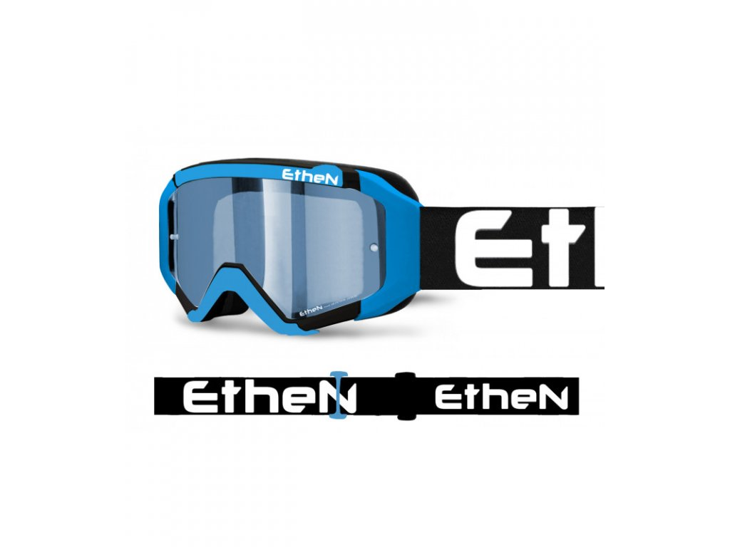 MX05R 0578 MX okuliare ČIERNO - MODRÉ s modrým zrkadlovým sklom