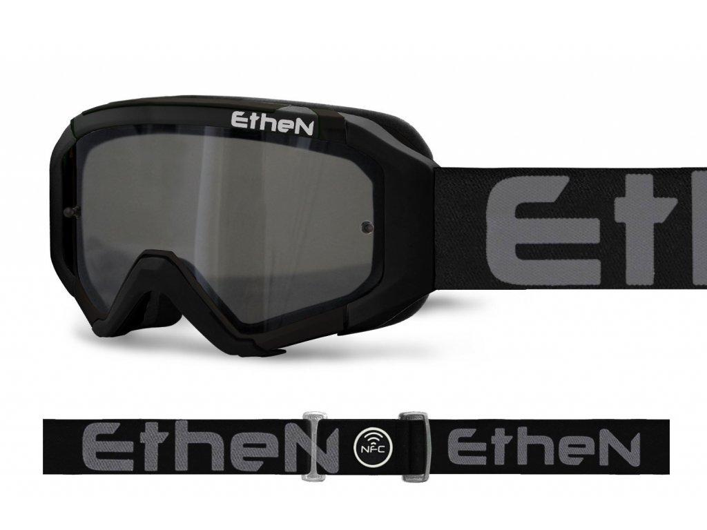 MX05R 0577 MX okuliare ČIERNE s dymovým zrkadlovým sklom