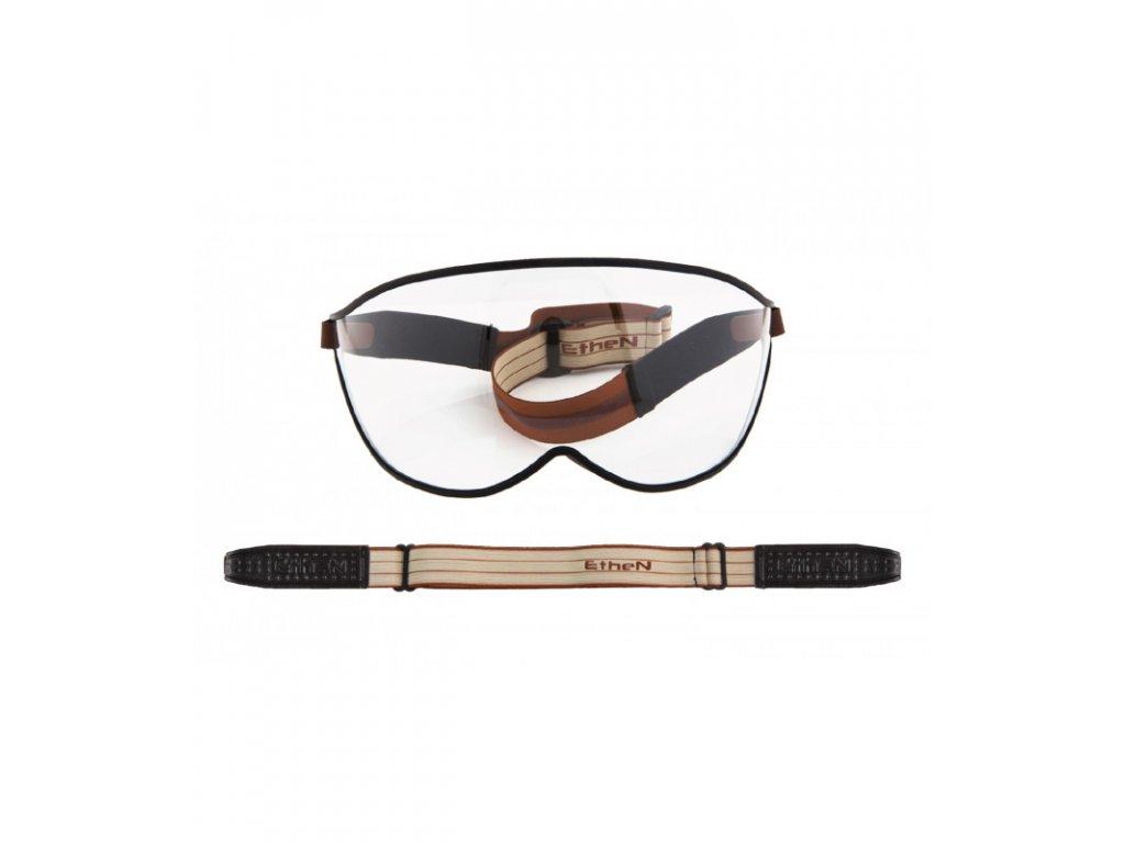 Visor motocyklové okuliare s priehľadným sklom VISOR03