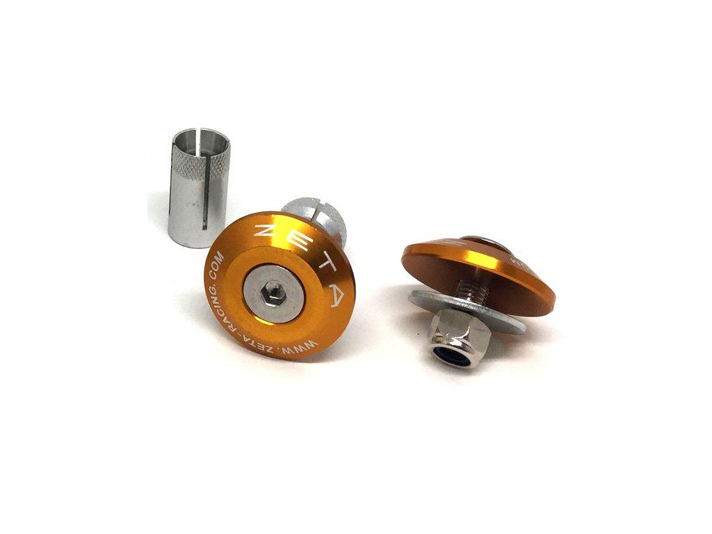ZETA ALU koncovky riadidiel Swivel 29mm 2ks Zlaté