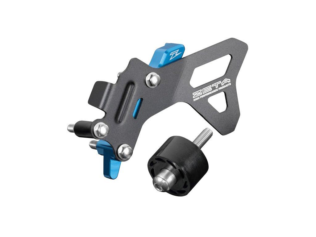 ZETA ALU kryt reťazového kolečka CaseCover Kit HQV. FC250/350,TC/TE/FE/TX/FX250/350 H-modrý