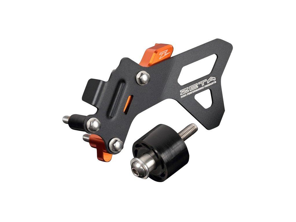 ZETA ALU kryt reťazového kolečka CaseCover Kit KTM 125/150SX'16-,125/150XCW'17- oranžový