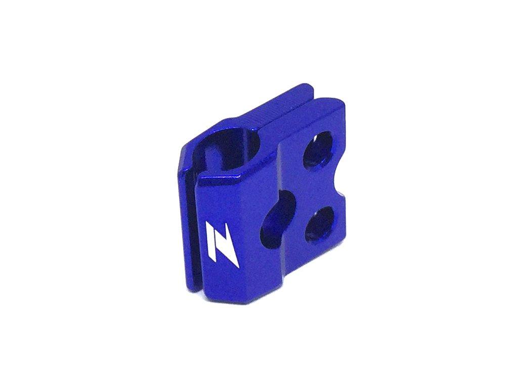 ZETA ALU objímka prednej brzdovej hadice CR/CRF'04-,CRF250L Modrá