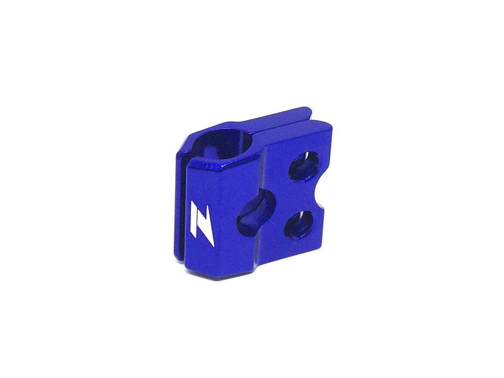 ZETA ALU objímka prednej brzdovej hadice KXF/KLX, RM/RMZ Modrá