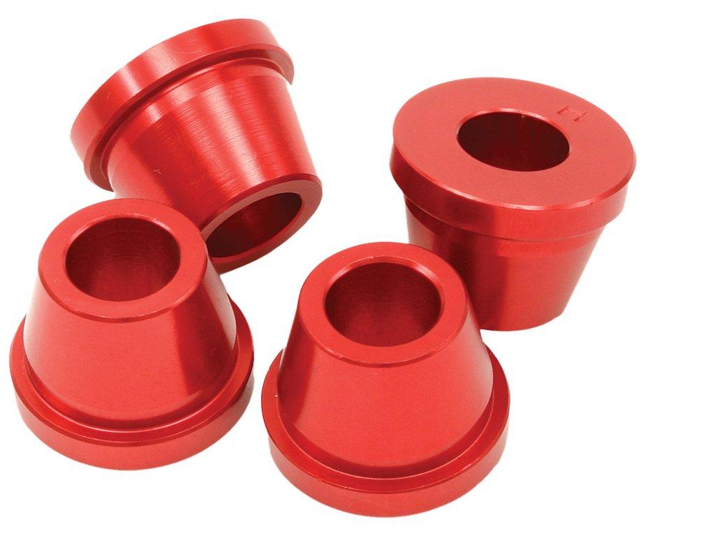 ZETA ALU púzdra držiaku riadidiel červené 4ks KX, KX250F'04-, KX450F-'11