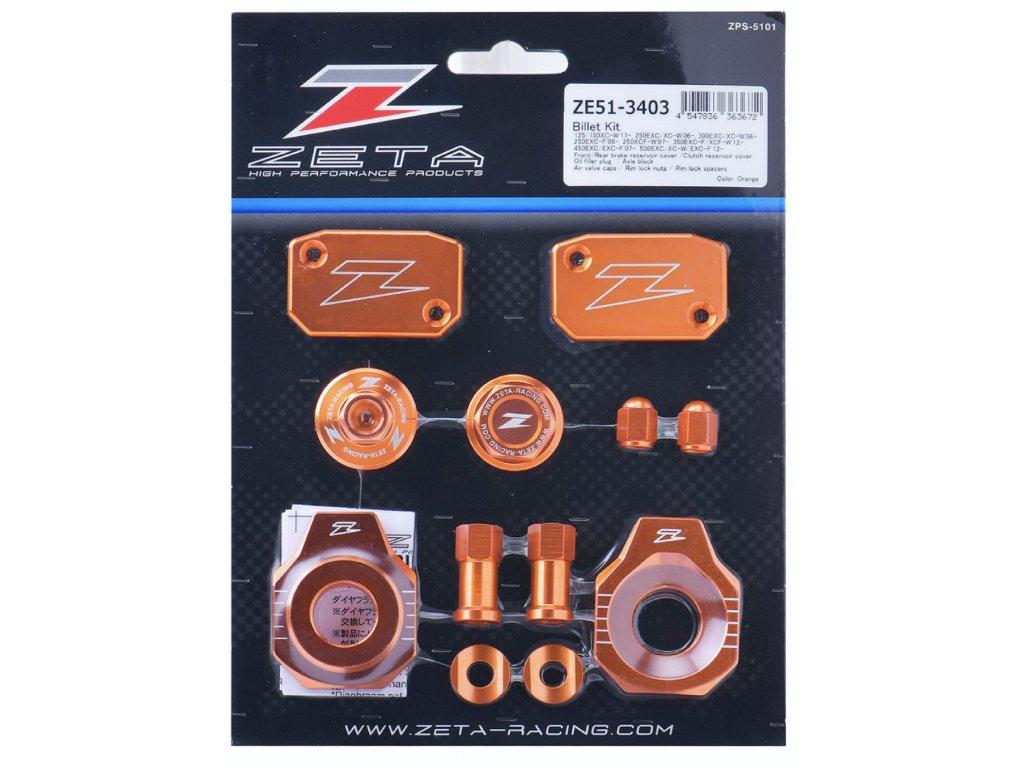 ZETA ALU sada skrutiek a doplnkov KTM EXC/EXC-F oranžová