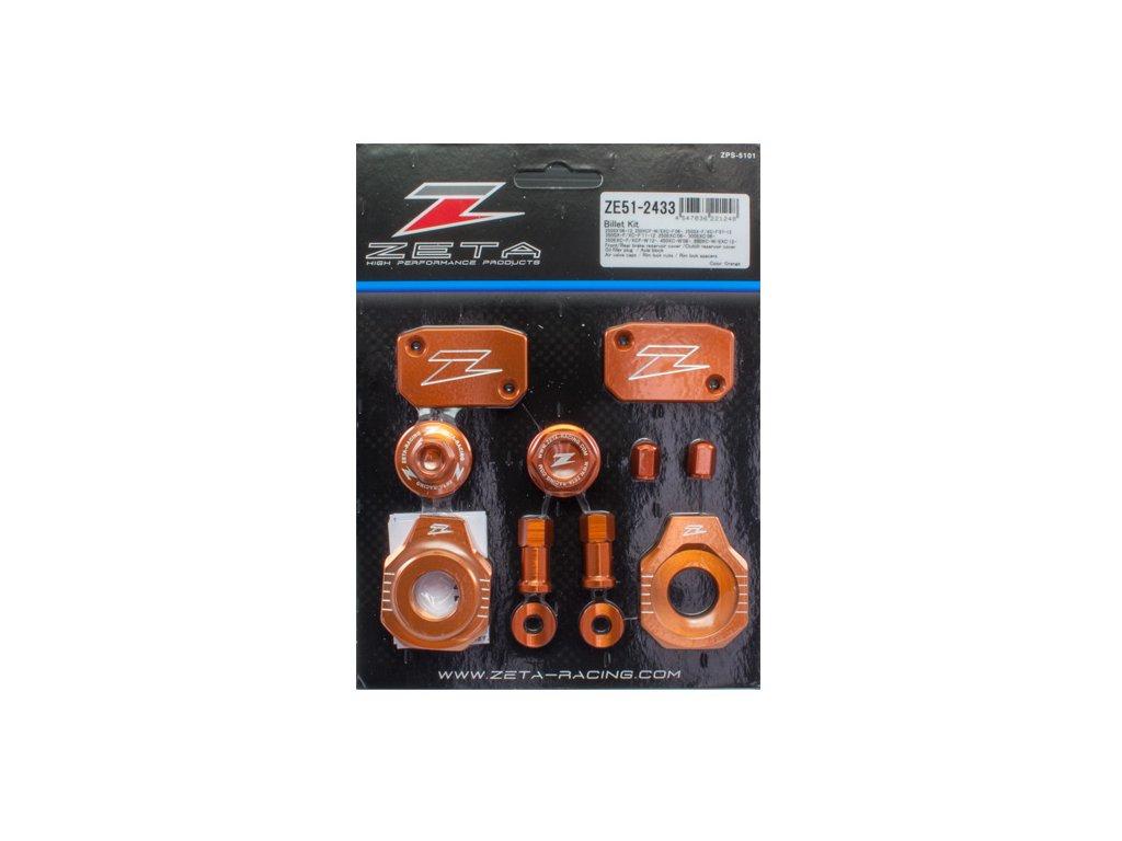 ZETA ALU sada skrutiek a doplnkov KTM SXF/XCF '13- oranžová