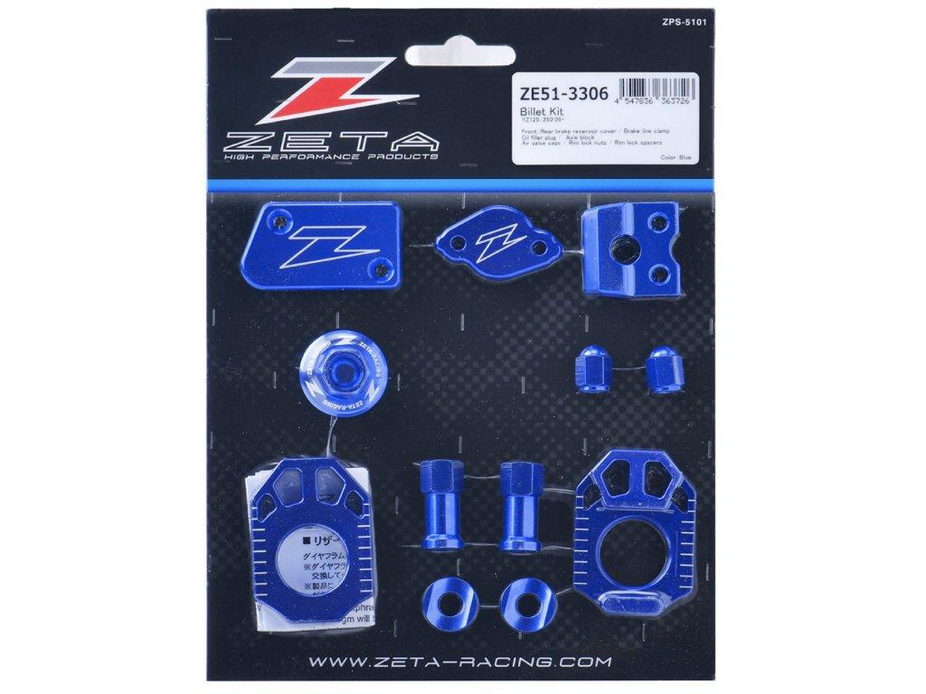 ZETA ALU sada skrutiek a doplnkov YZ125/YZ250'09- Modrá