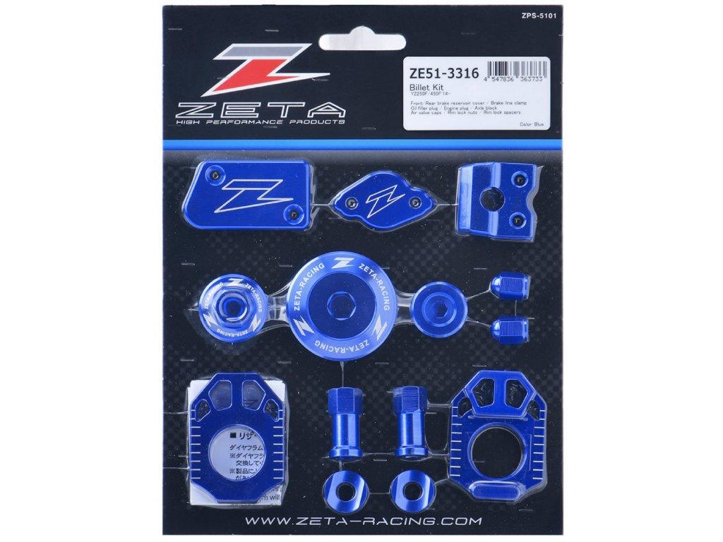 ZETA ALU sada skrutiek a doplnkov YZ250F/YZ450F'14- Modrá