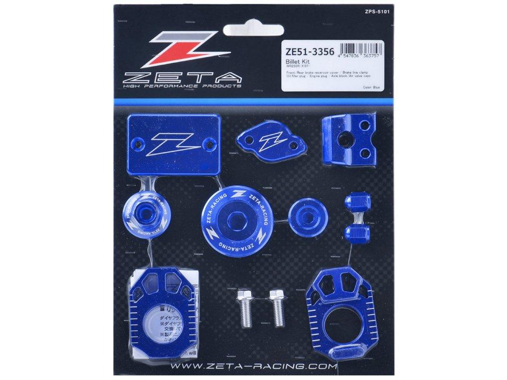 ZETA ALU sada skrutiek a doplnkov YZ250FX'15-YZ450FX'16- Modrá