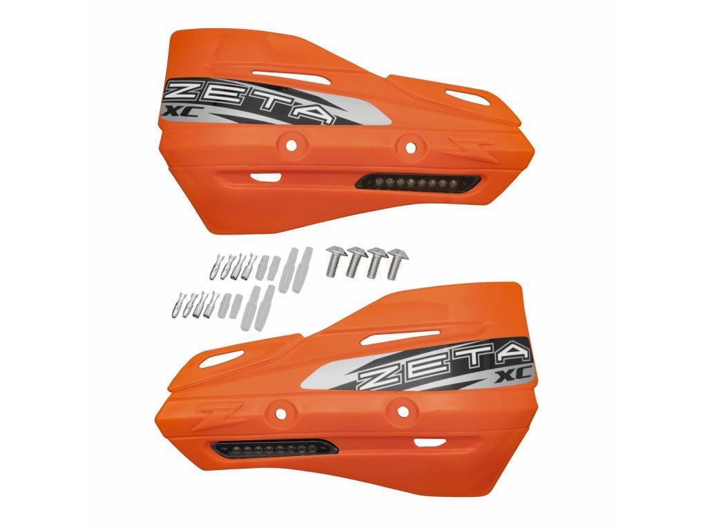 ZETA Armor-XC kryty rúk oranžové s dým. smerovkami