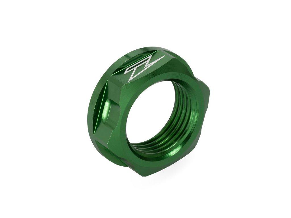 ZETA Hliníková matica osky M18x24-P1.5 H9 Zelená
