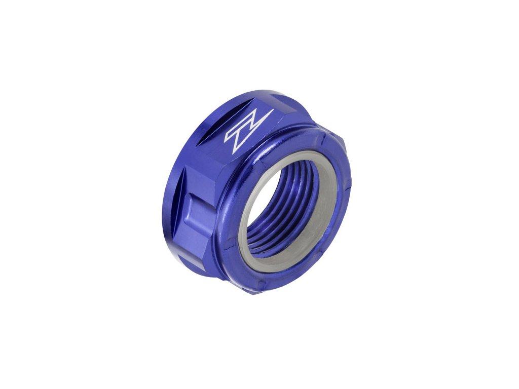 ZETA Hliníková matica osky M20x30-P1.5 H13L Modrá