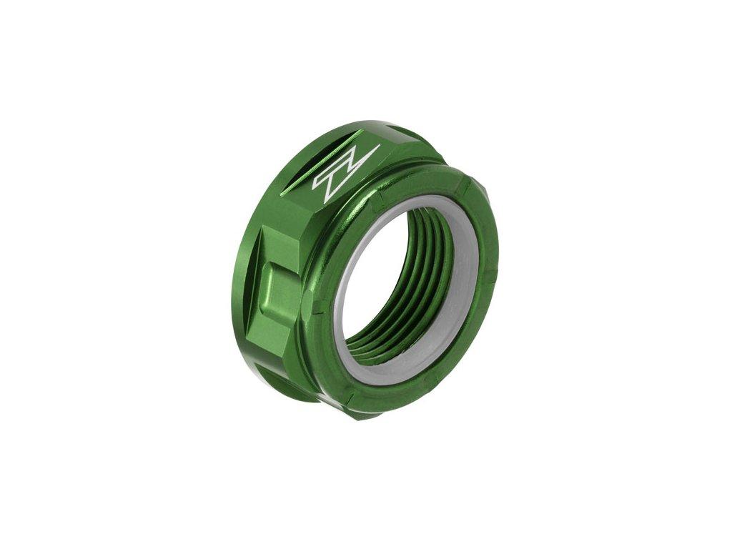 ZETA Hliníková matica osky M22x32-P1.5 H12L Zelená
