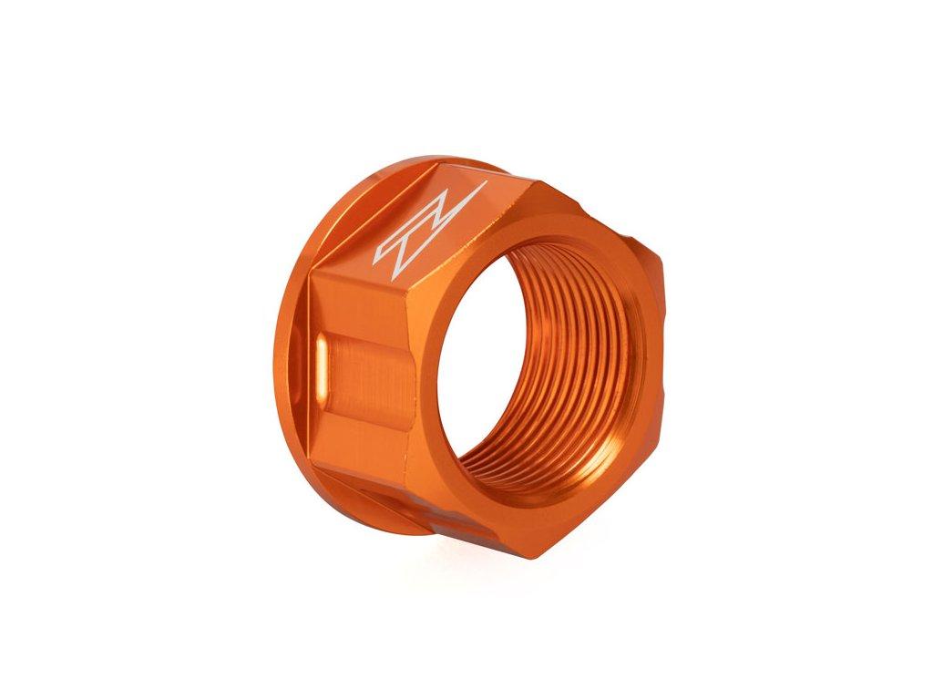 ZETA Hliníková matica osky M25x32-P1.5 H18 Oranžová