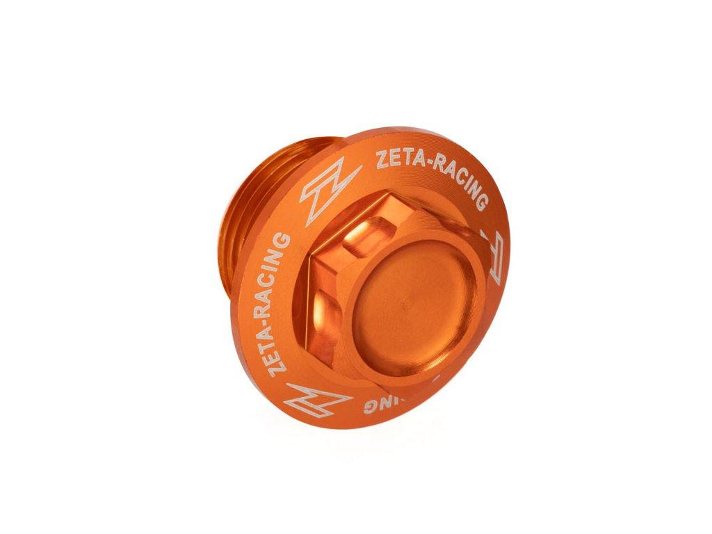 ZETA hliníková skrutka prednej osky M20x19-P1.5 H21 oranžová