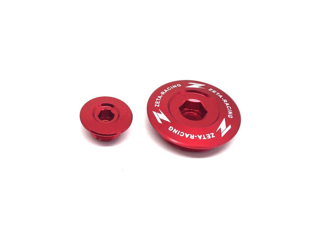 ZETA Hliníková zátka motora CRF250R'10-17, CRF450R/X, CRF150R Červená