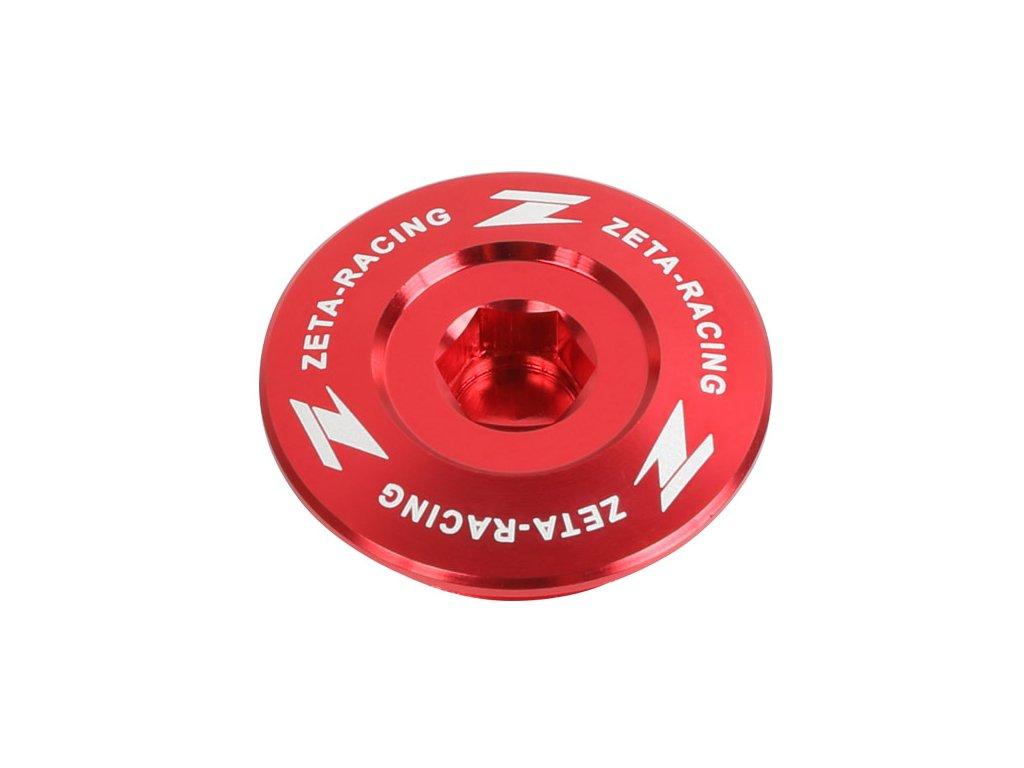 ZETA Hliníková zátka motora CRF450R/RX '17- Červená