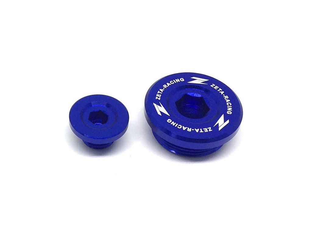 ZETA Hliníková zátka motora KX250F'04-10, RMZ250'04-06 Modrá