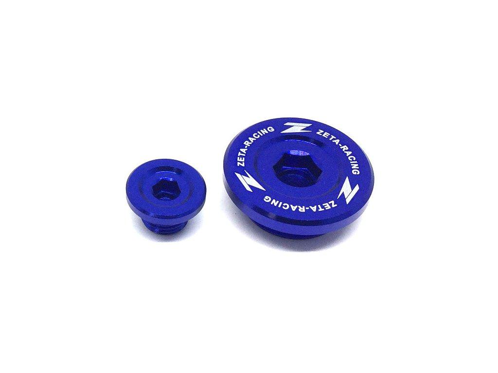 ZETA Hliníková zátka motora RMZ250'07-, RMZ450'05- Modrá