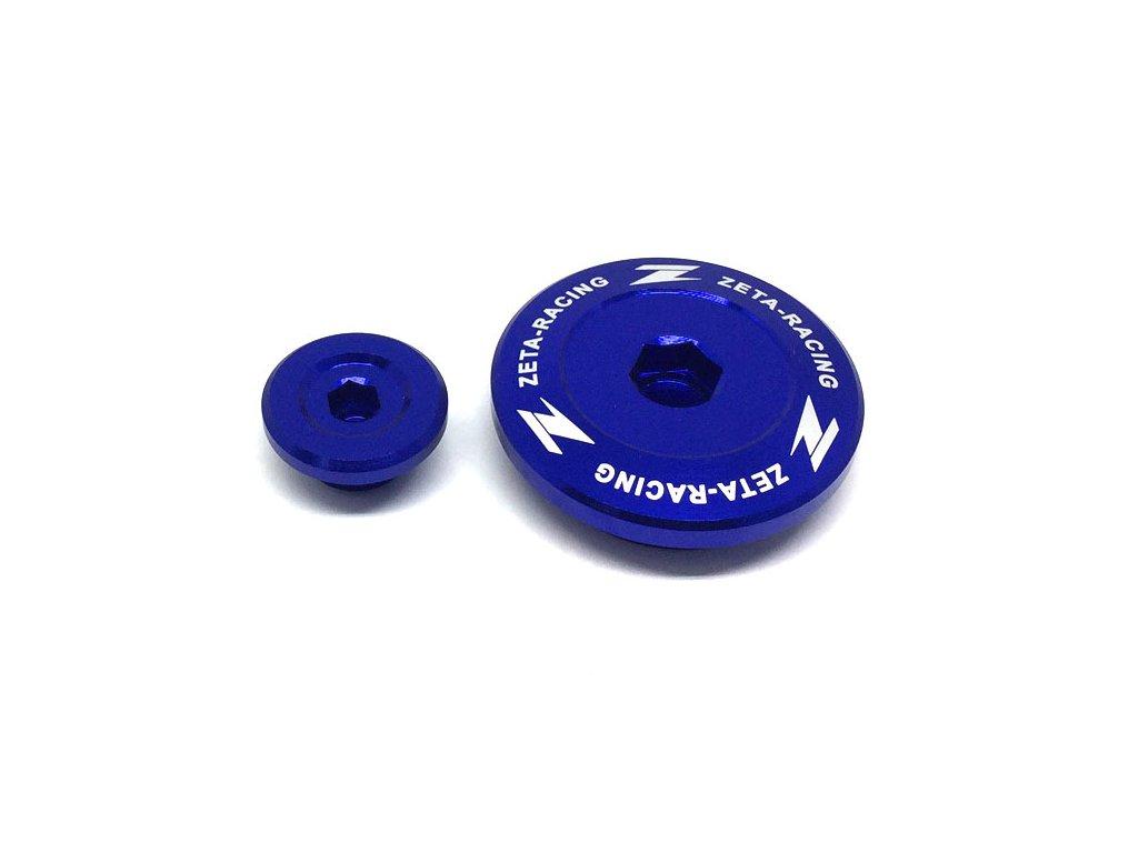 ZETA Hliníková zátka motora YZ250F'14-, YZ450F'14- Modrá