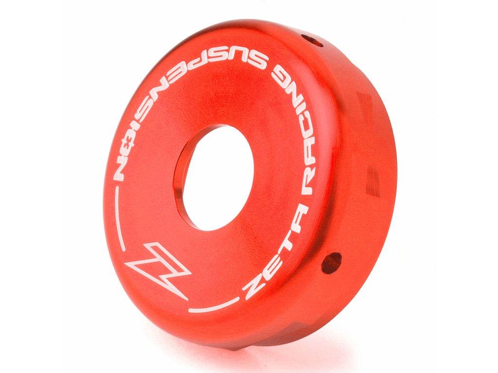 ZETA Hliníkové zadné veko tlmiča SHOWA 50mm červené