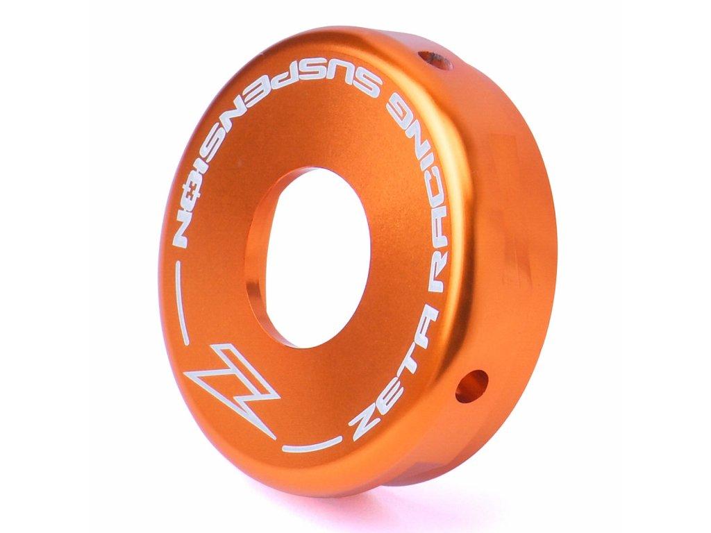 ZETA Hliníkové zadné veko tlmiča WP 46mm oranžové