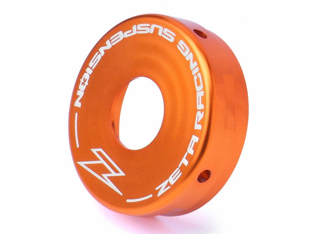 ZETA Hliníkové zadné veko tlmiča WP 50mm oranžové