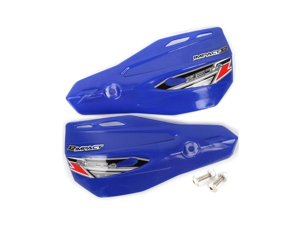 ZETA Impact X2 náhradný plast.kryt 2ks modré