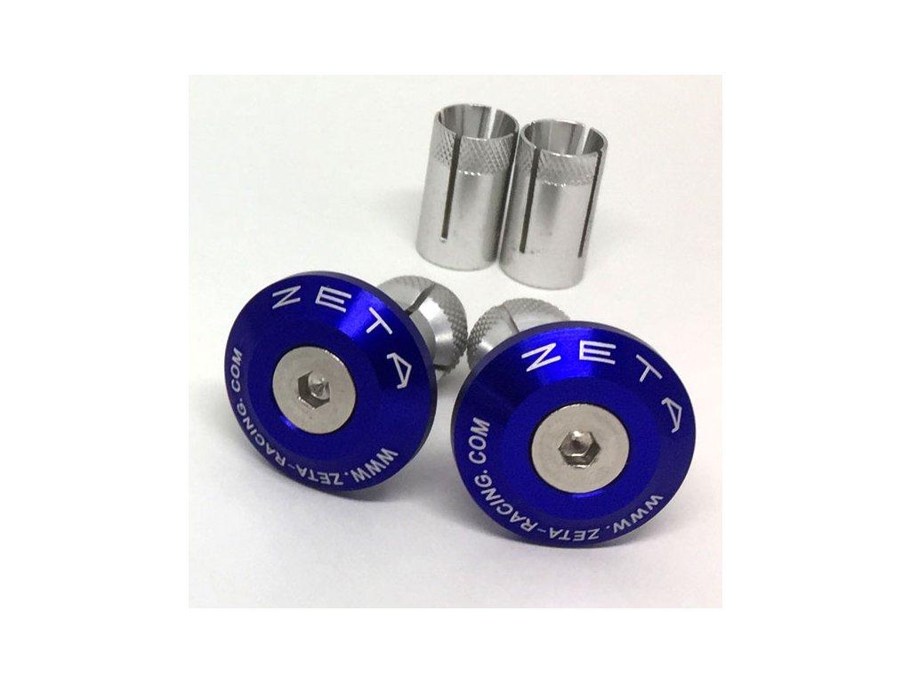 ZETA Koncovky riadidiel ALU 29mm 2ks Modré
