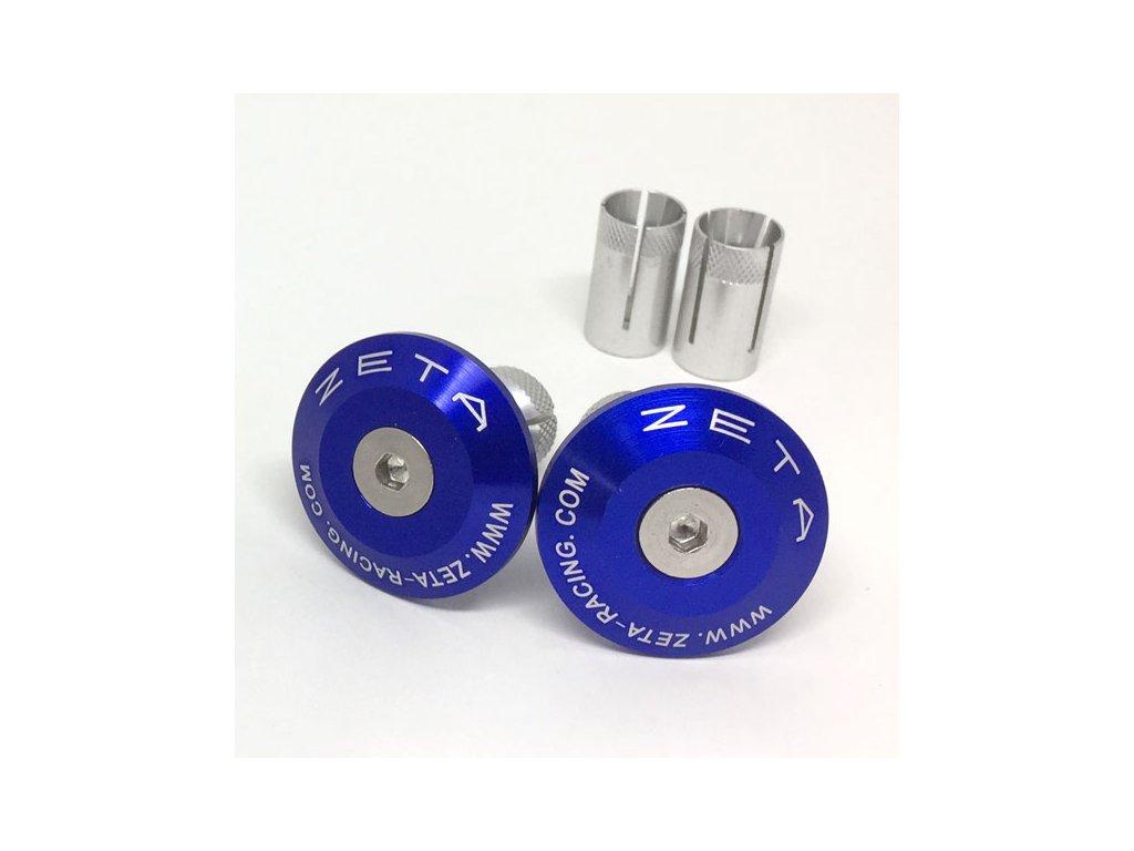 ZETA Koncovky riadidiel ALU 35mm 2ks Modré