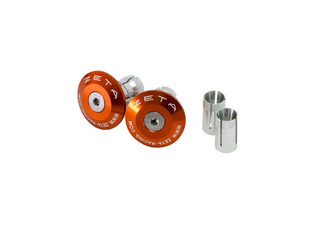 ZETA Koncovky riadidiel ALU 35mm 2ks Oranžové