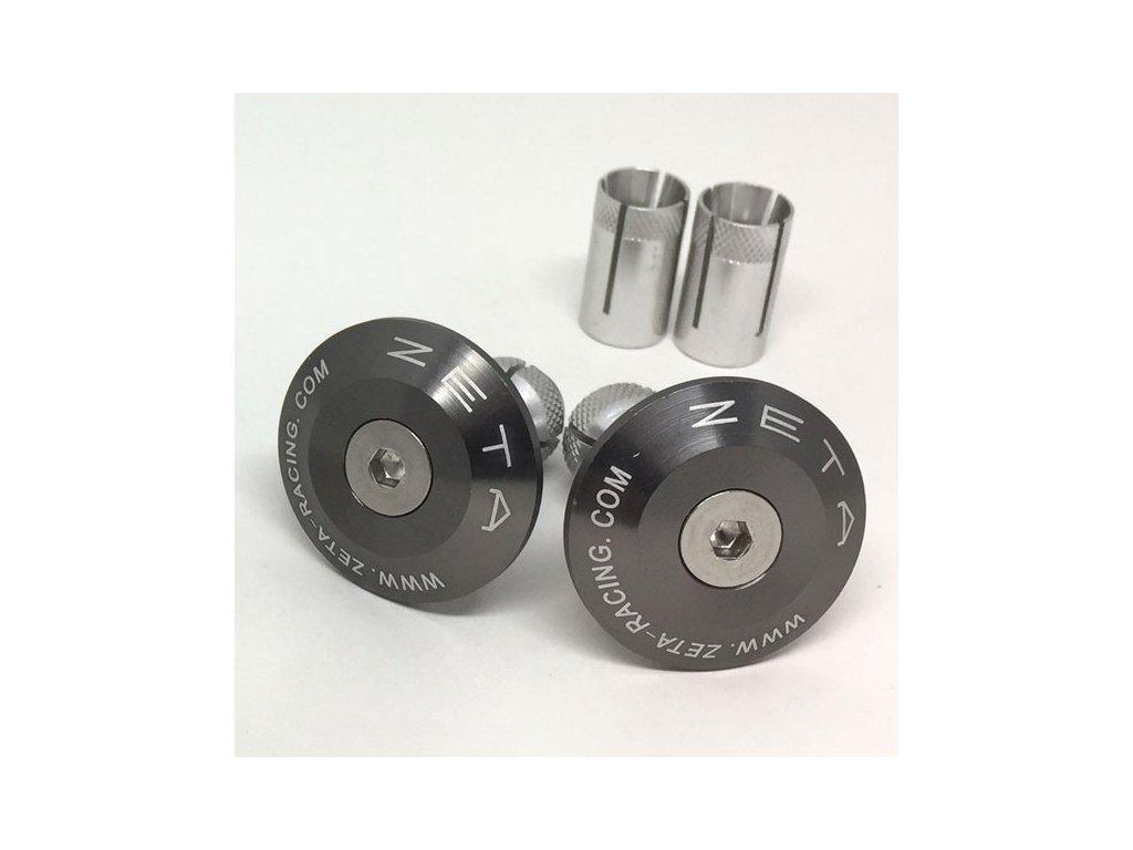 ZETA Koncovky riadidiel ALU 35mm 2ks Titanium