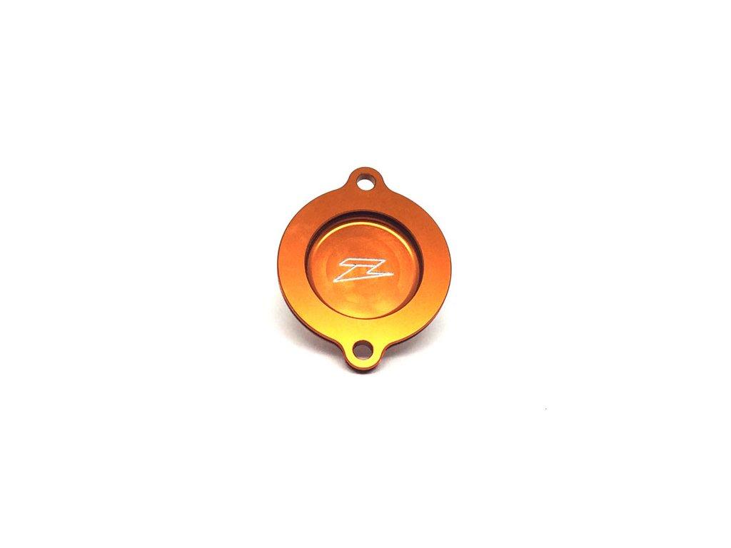 ZETA kryt olejového filtra KTM 450SXF'13-15, 450SMR'13- oranžový