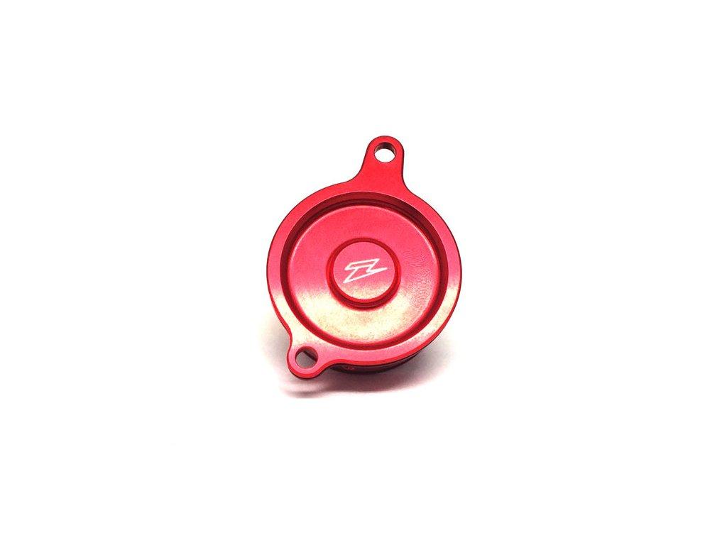 ZETA kryt olejového filtra KX450F'06-15, KLX450R'08- červený