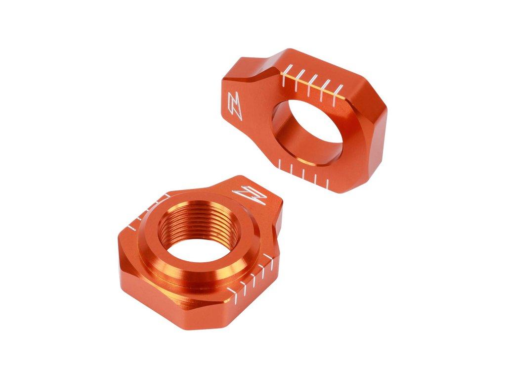 ZETA Napínacie bloky zadnej osky KTM 65SX-'15 Oranžové
