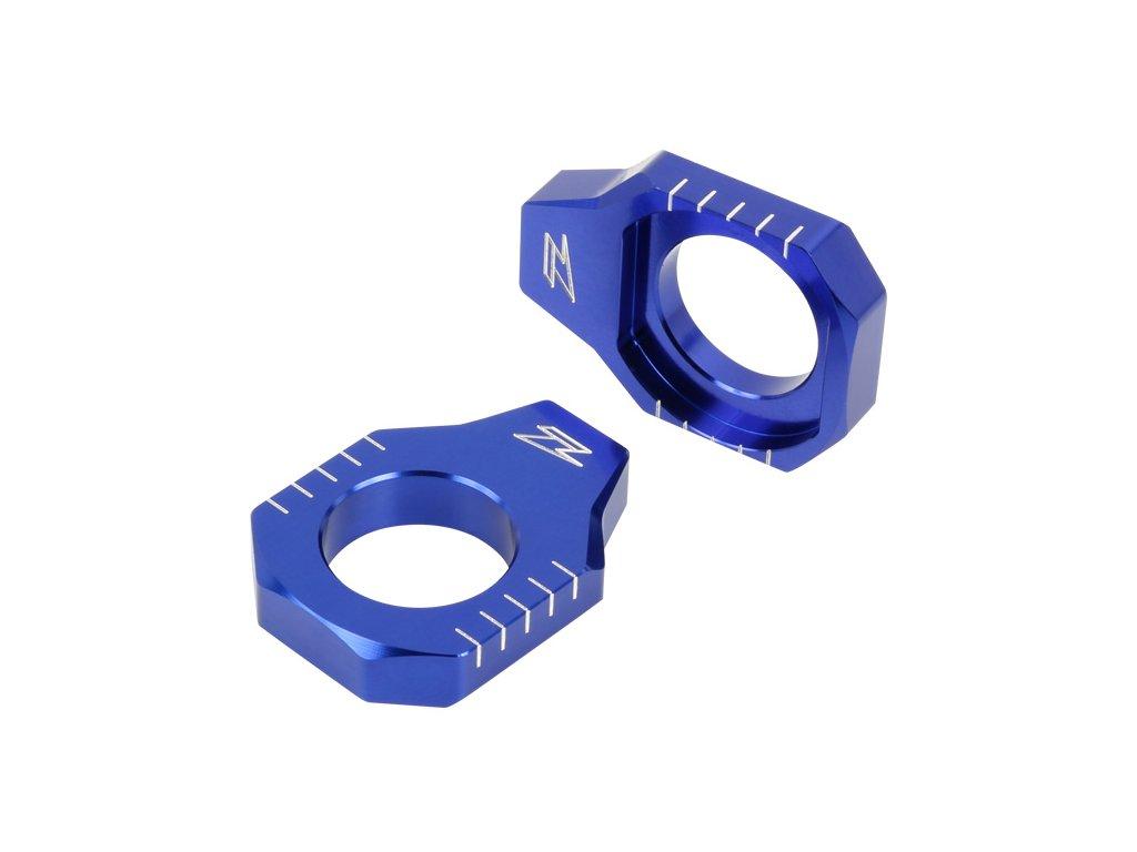 ZETA Napínacie bloky zadnej osky KX85 '01- Modré
