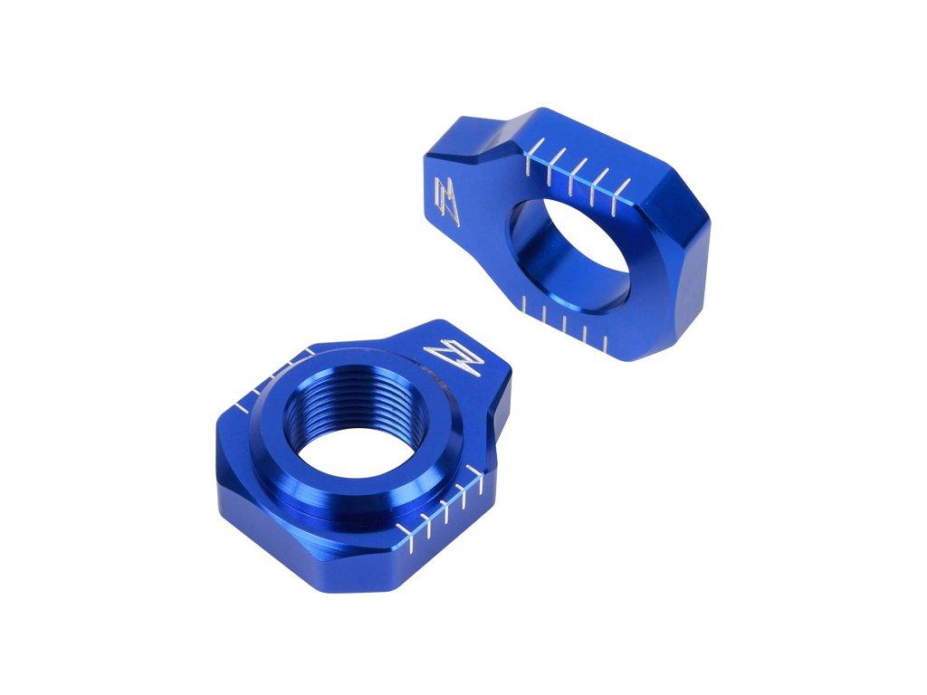 ZETA Napínacie bloky zadnej osky YZF250'09-11,450'09 Modré