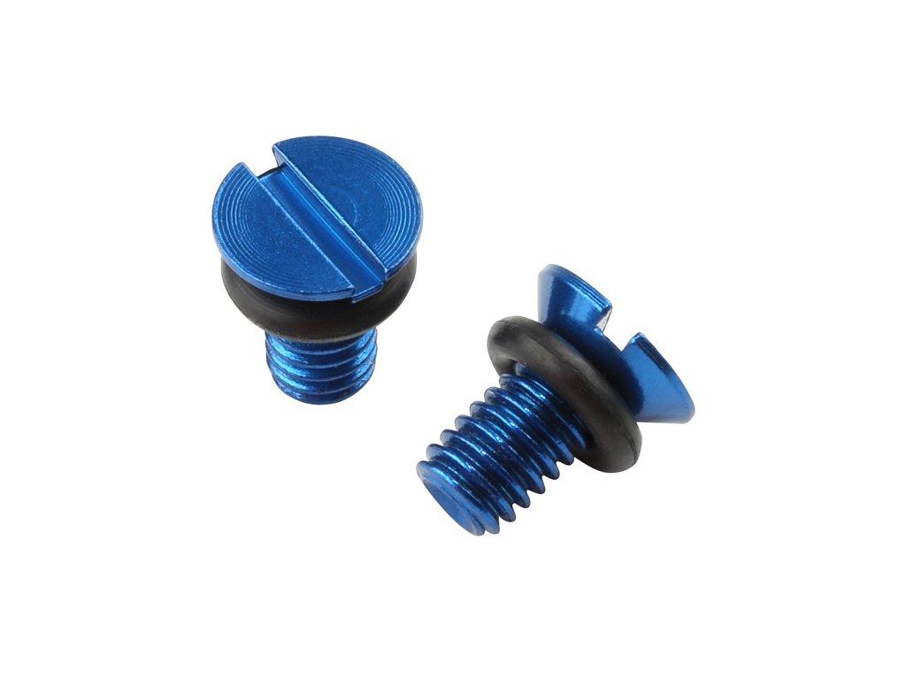 ZETA Odvzdušňovacia skrutka prednej vidlice WP H-modrý 2ks