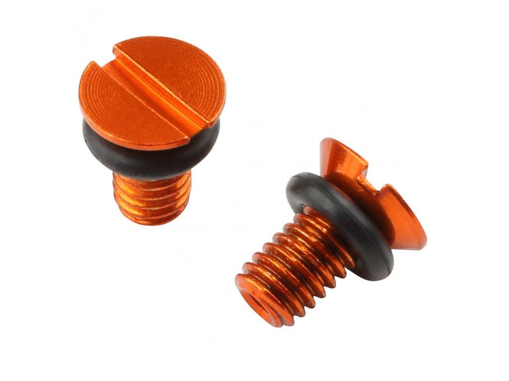ZETA Odvzdušňovacia skrutka prednej vidlice WP oranžový 2ks
