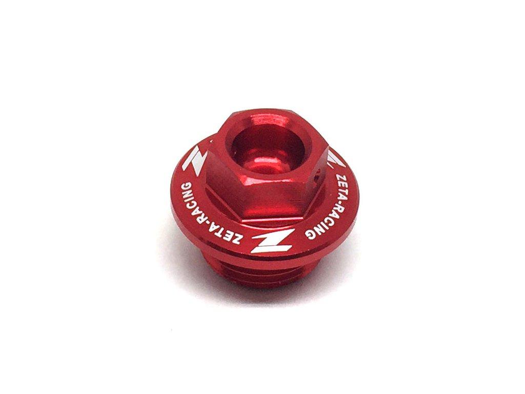 ZETA Olejová zátka motora KX250'05-07, KX250/F,450/F'04- červená
