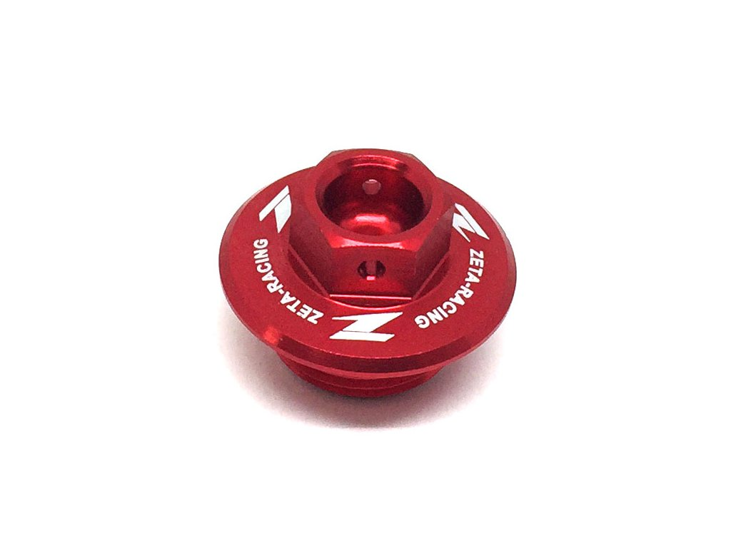 ZETA Olejová zátka motora RM/RMZ, SEROW250 červená