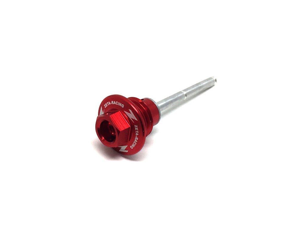 ZETA Olejová zátka s DipStick CRF450R'09-16 červená